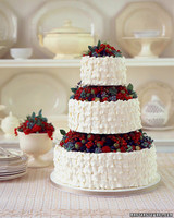 Basket of Berries Wedding Cake
