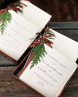 Cedar Twig Wedding Programs