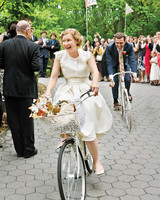 bicycle wedding getaway