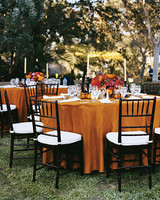 Outdoor Autumnal Reception Tables