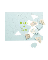 puzzle wedding guest book