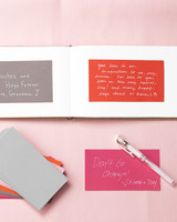 colorful wedding guest book