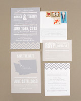 muted wedding invitation