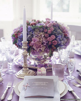 Purple And Blue Wedding Centerpieces