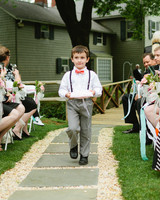 Ring Bearer Holding Ring Pillow
