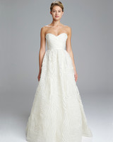 Simple Amsale Wedding Dress