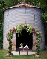 Drooping Farm Wedding Arch