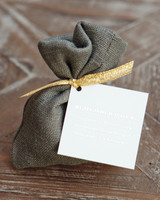 Burlap Dragee Bag Favor
