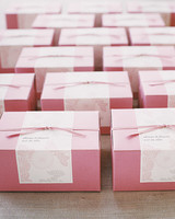 Pink Cookie Box Favors