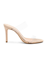 nude shoe clear strap high heels