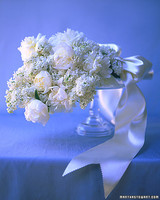 Textured White Wedding Bouquet
