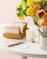 address card wedding guest book