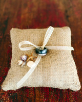 seashell ring pillow