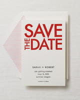 red-and-white save the date
