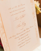 taupe ink wedding invitation
