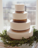 Modern Striped Wedding Cake