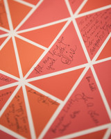 poster wedding guest book