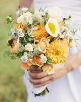 Yellow and Orange Wedding Bouquet