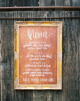 wooden menu