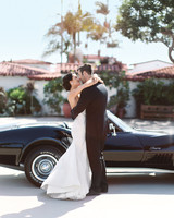 white vintage corvette getaway car