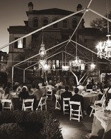 outdoor wedding chandeliers