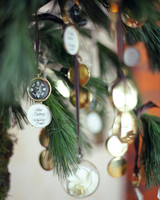 Compass Escort Card Christmas Ornaments