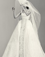 Structured Wedding Dress with Pockets