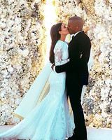 Kanye West and Kim Kardashian Wedding Photo
