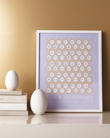 honeycomb wedding guest book