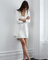 lein fall 2018 wedding dress two piece skirt jacket short