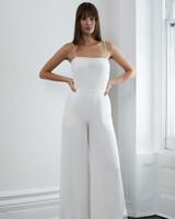 lein fall 2018 wedding dress spaghetti strap jumpsuit wide leg