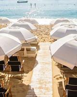 beach umbrellas chairs