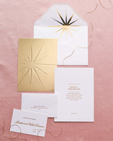 starry wedding invitation