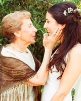 Grandmother Posing with Bride