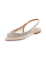 nude shoe diamonds ballet flats