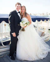 bride and groom coastal wedding