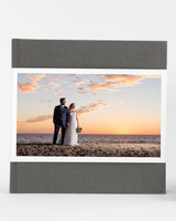 wedding photo album coffee table book with dust jacket