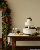Grape and Pear Wedding Cake