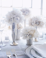 White Tissue Paper Flowers