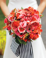 Red-Orange Wedding Bouquet