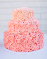 pink-swirled wedding cake