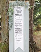 wedding menu door