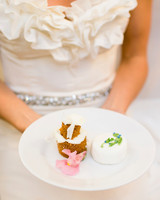 Mini Carrot and Petit Four Wedding Cakes