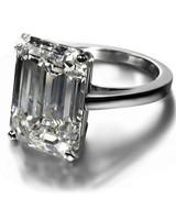 De Beers Emerald-Cut Engagement Ring