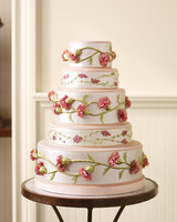Embroidery-Inspired Wedding Cake