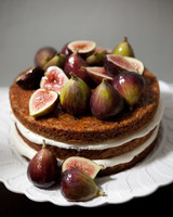 Naked, Fig-Topped Carrot Cake
