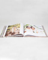 wedding photo album book with photo wrap cover
