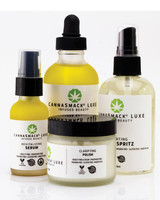 cbd beauty cannasmack skincare starter pack