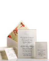 custom crest wedding invitation