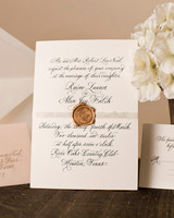 black calligraphy wedding invitation